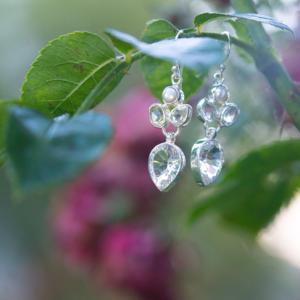 Ohrhänger mit Kristall und Perle
