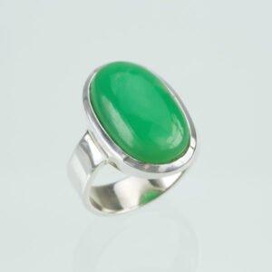 Ring Silber mit Chrysopras