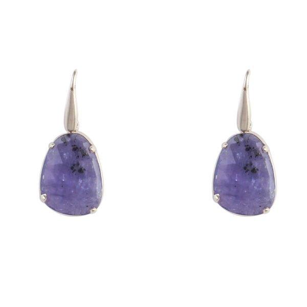 Ohrhänger Silber mit Saphir