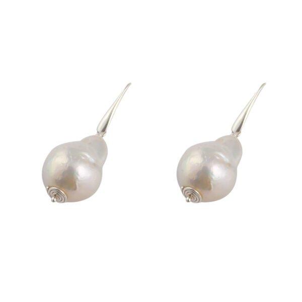 Ohrhänger Silber mit Barockperle