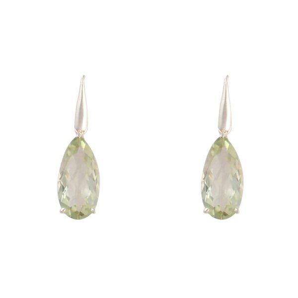 Ohrhänger Silber mit Grünem Amethyst